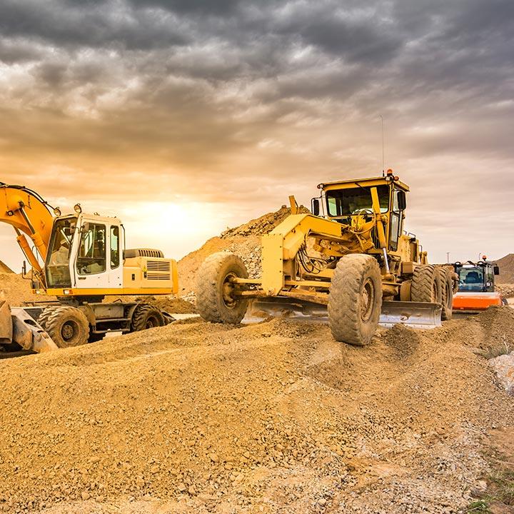 Mines et travaux de chantier (machinerie lourde)