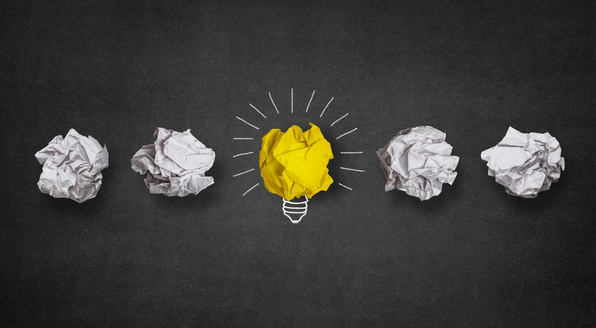 light-bulb-made-from-yellow-paper-ball